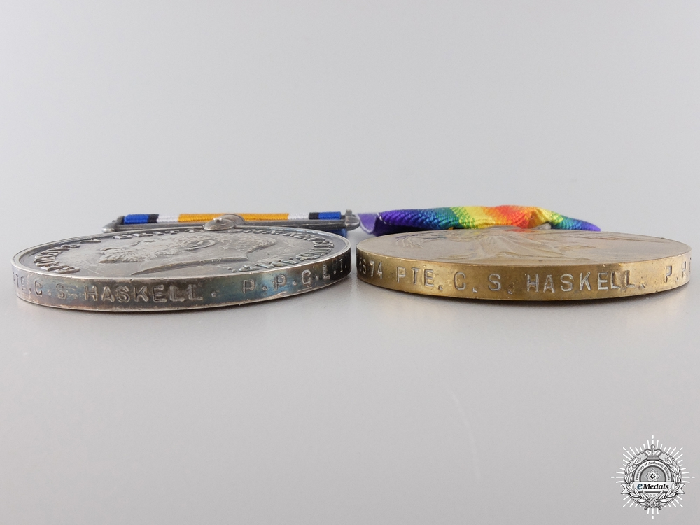 A Medal Pair to the PPCLI who was Killed at  Sanctuary Wood