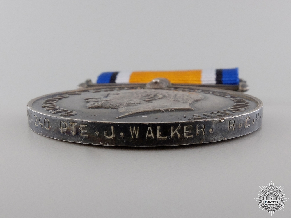 A British War Medal to the Royal Canadian Regiment