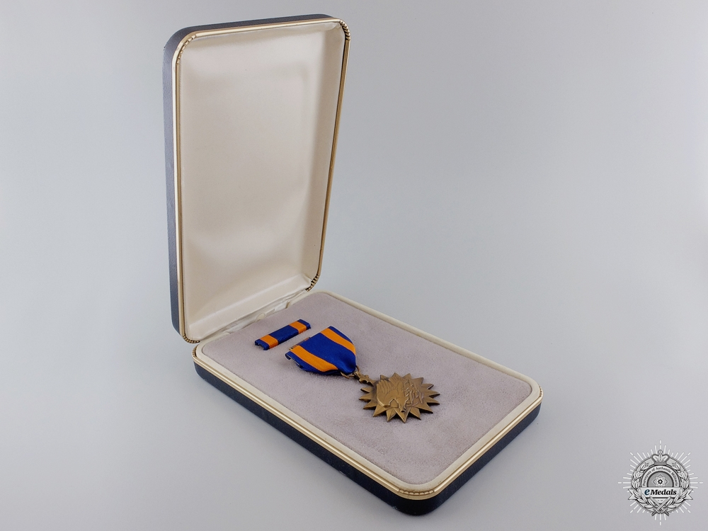 An American  Air Medal with Cased