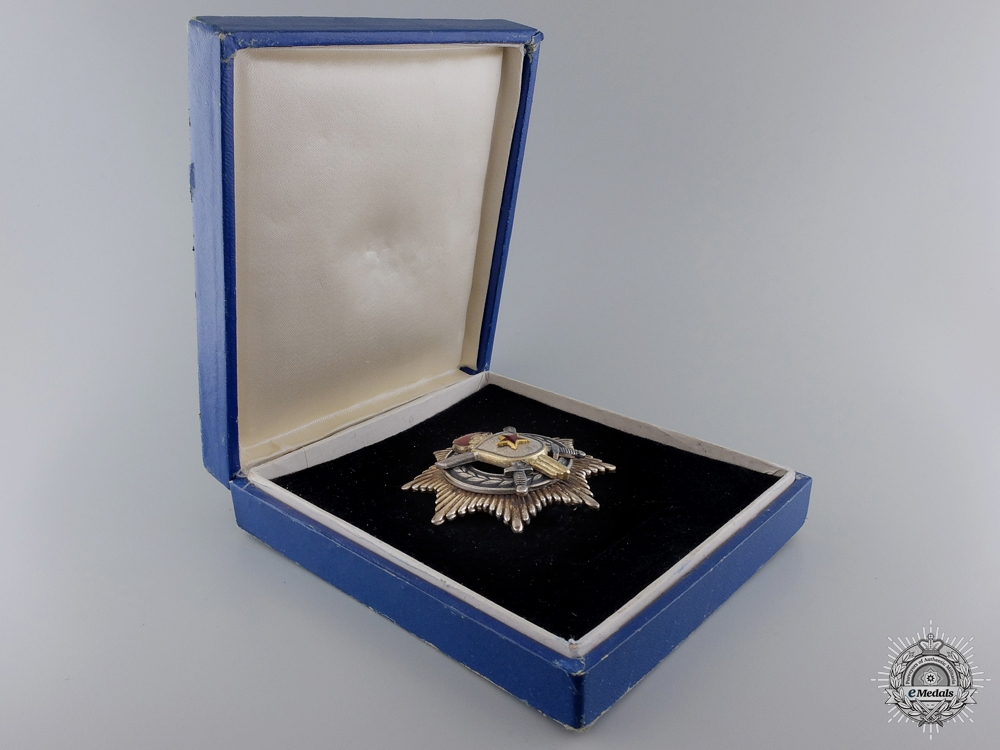 A Yugoslavian Order of Military Merit with Silver Swords; 3rd Class
