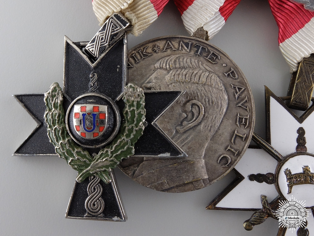A Fine Second War Croatian Group to the 369th Regiment