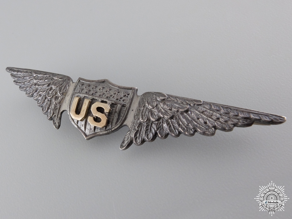 A First War United States Air Service Pilot Wings by William Link