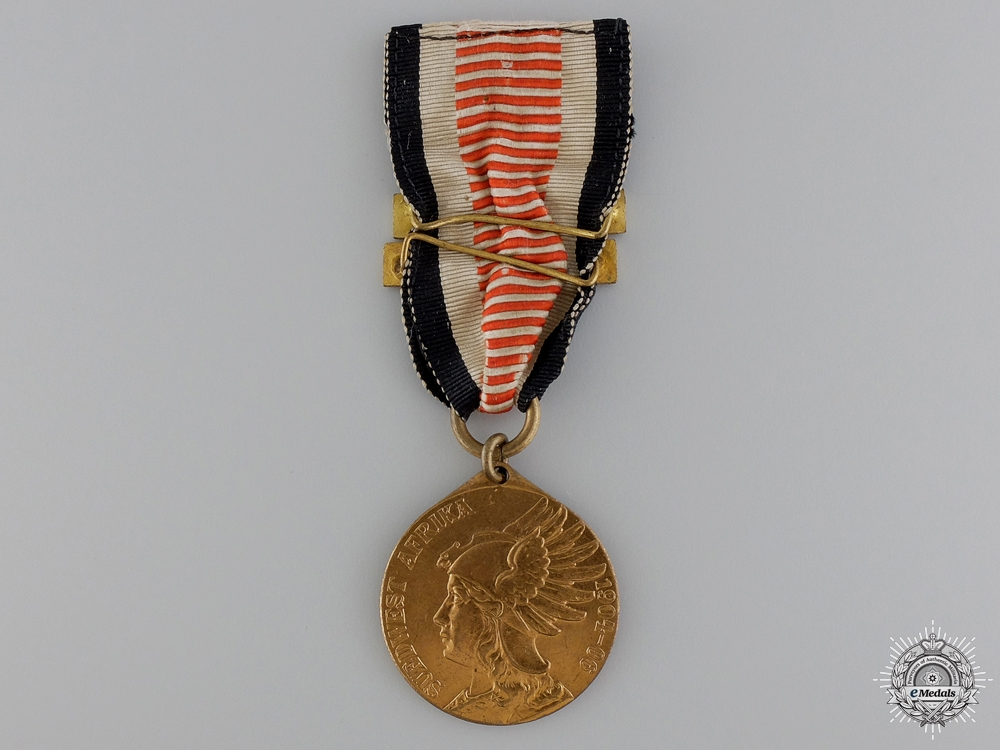 A German Southwest Africa Campaign Medal with Two Bars