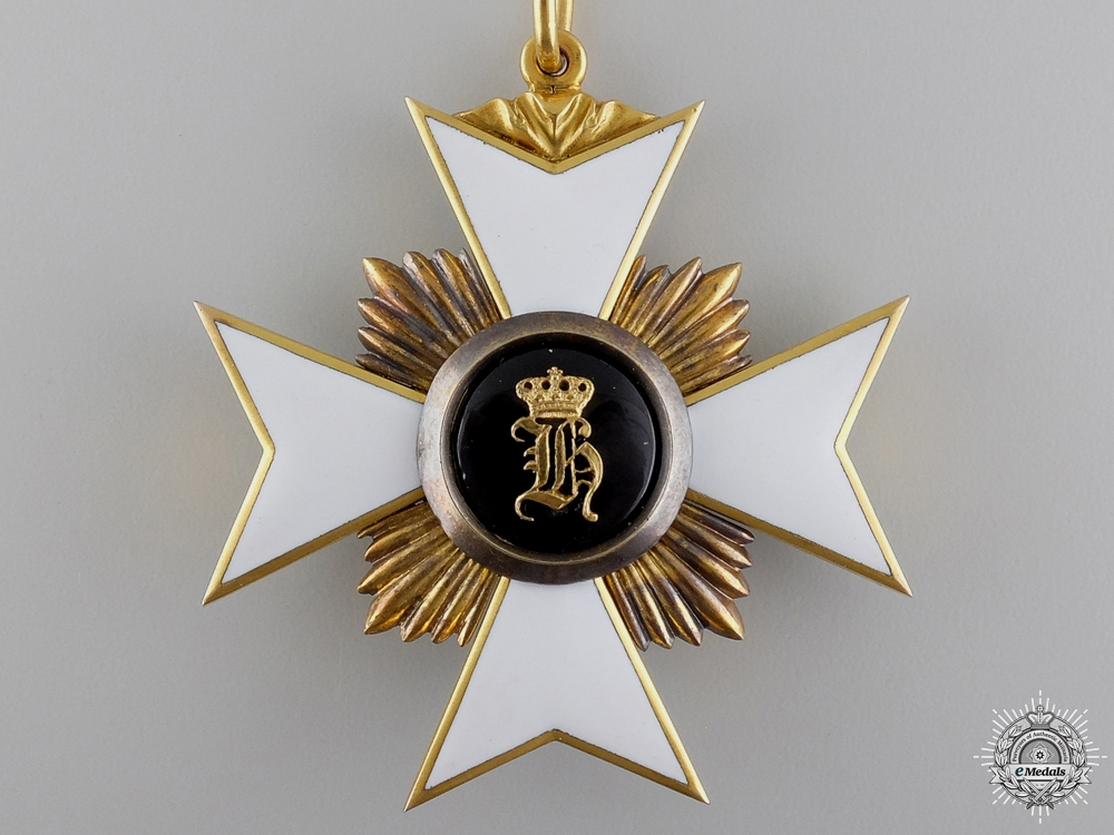 A Princely Reuss Honor Cross; First Class in Gold