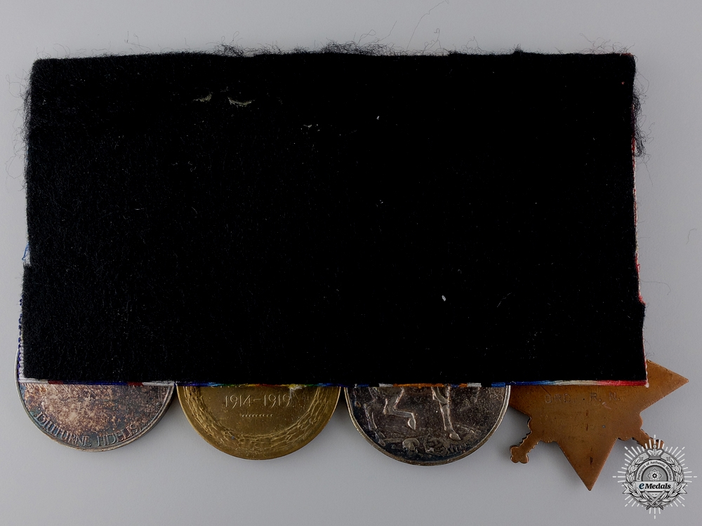 A First War Medal Bar to Leading Seaman William Pettet