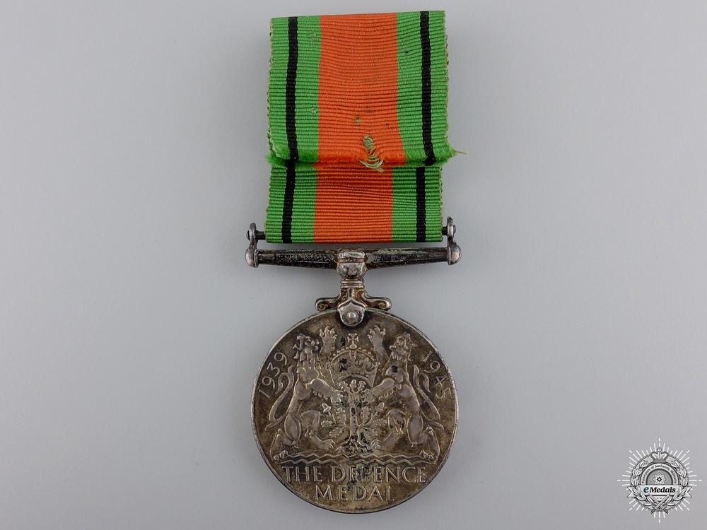 A Second War Defence Medal; Canadian Silver Issue with Box