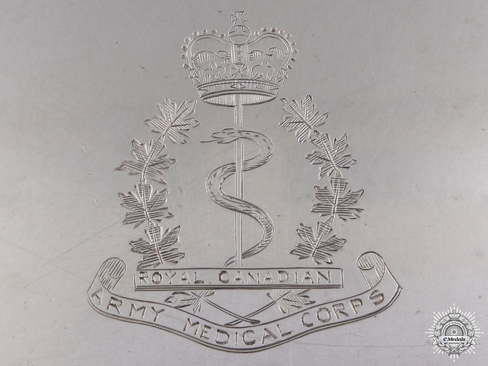 A Sterling Silver RCAMC Presentation Plate to Lieutenant Colonel Murray