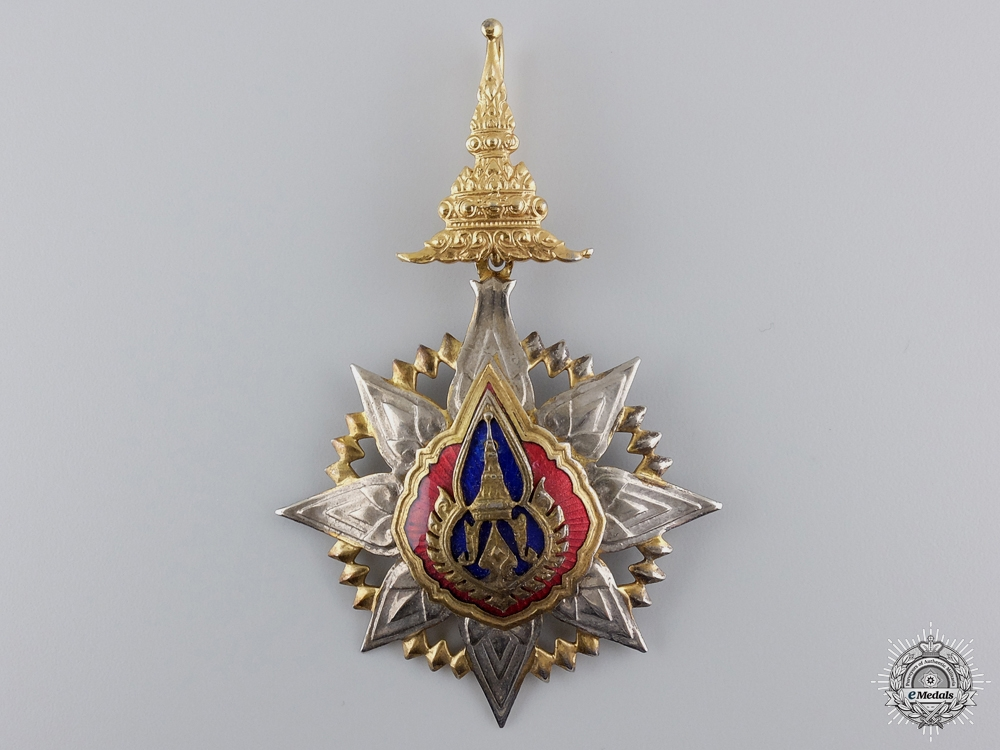 A Thai Order of the Crown; Commander's Neck Badge