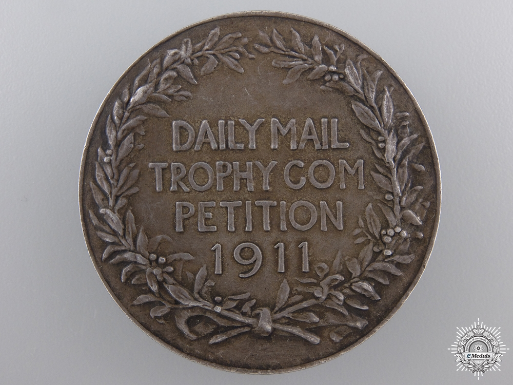 A 1911 Daily Mail Trophy Medal to 21st CEF Commanding Officer