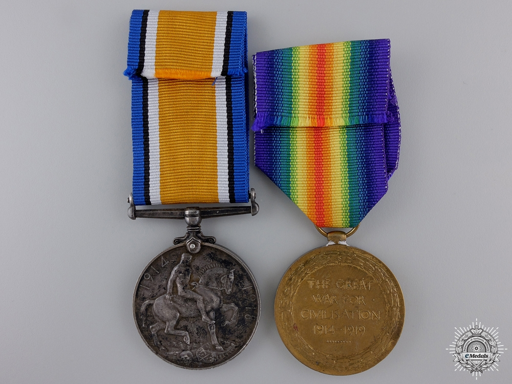 A First War Pair to the 49th Canadian Infantry