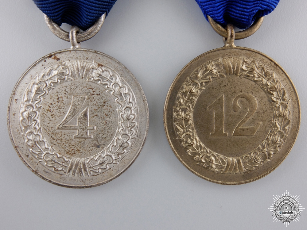 Two Wehrmacht Long Service Medals