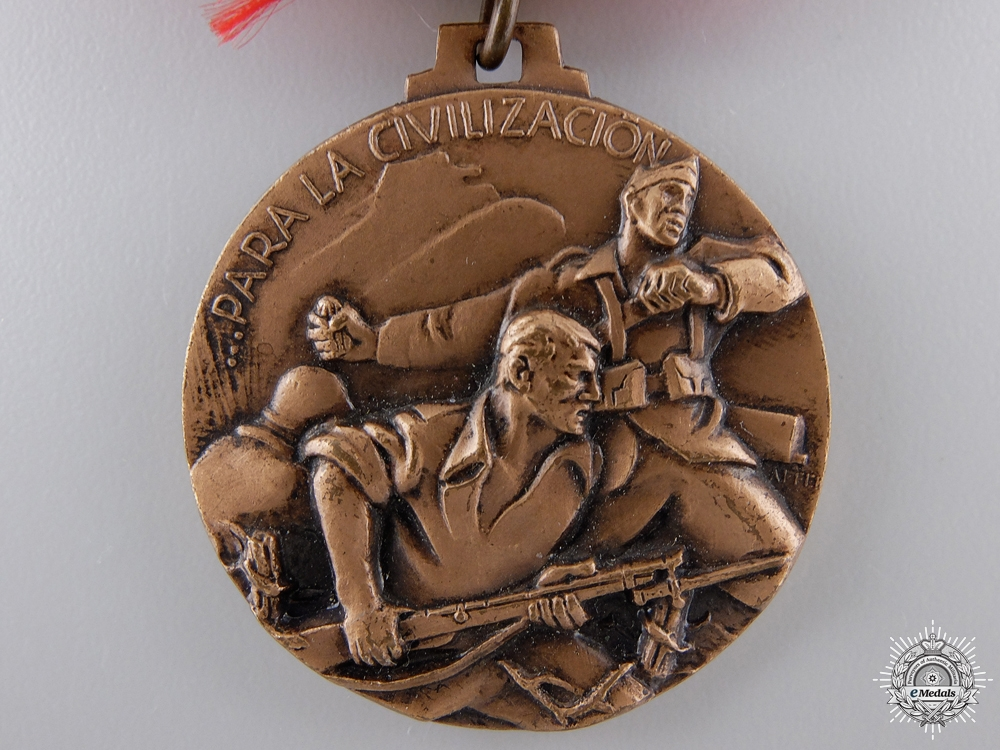 An Italian Medal for the Spanish Campaign in Bilbao