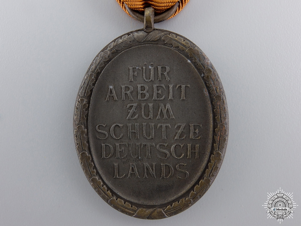 A Second War West Wall Medal with Packet