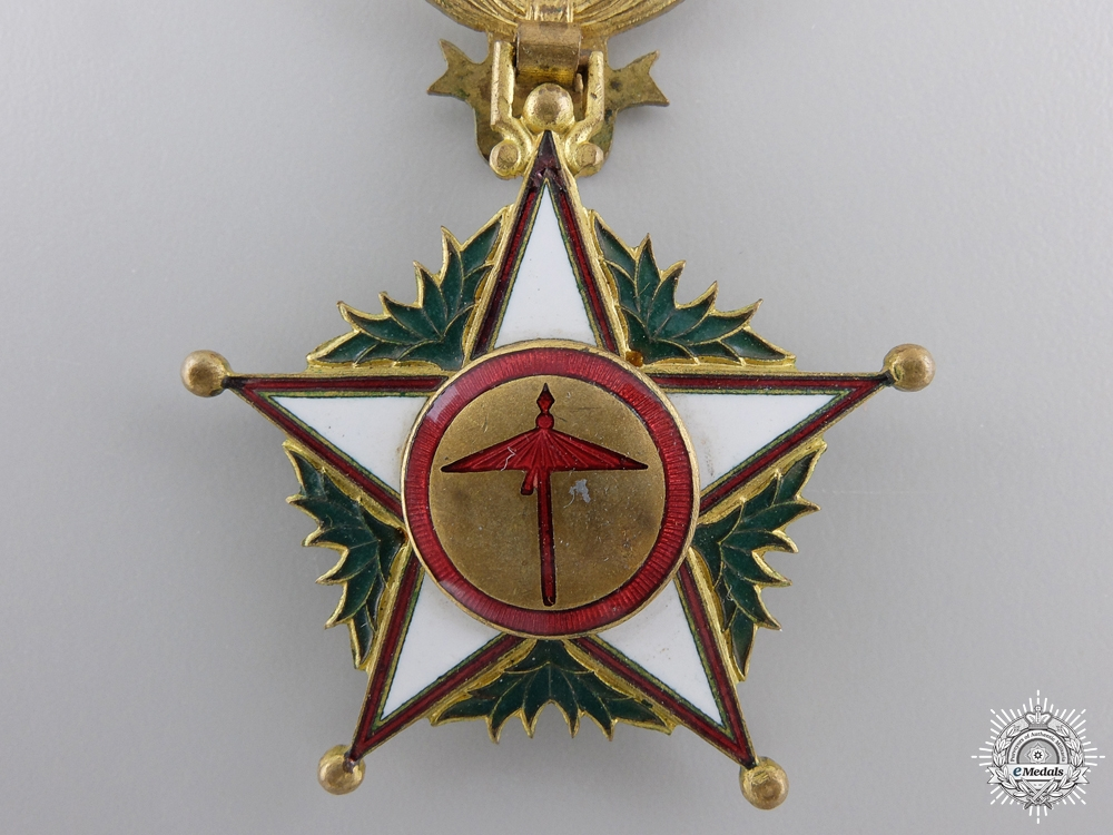 A Moroccan Order of Ouissam Alaouite; Officer