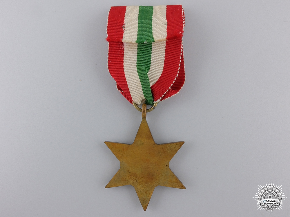 A Second War Italy Campaign Star with Boxed
