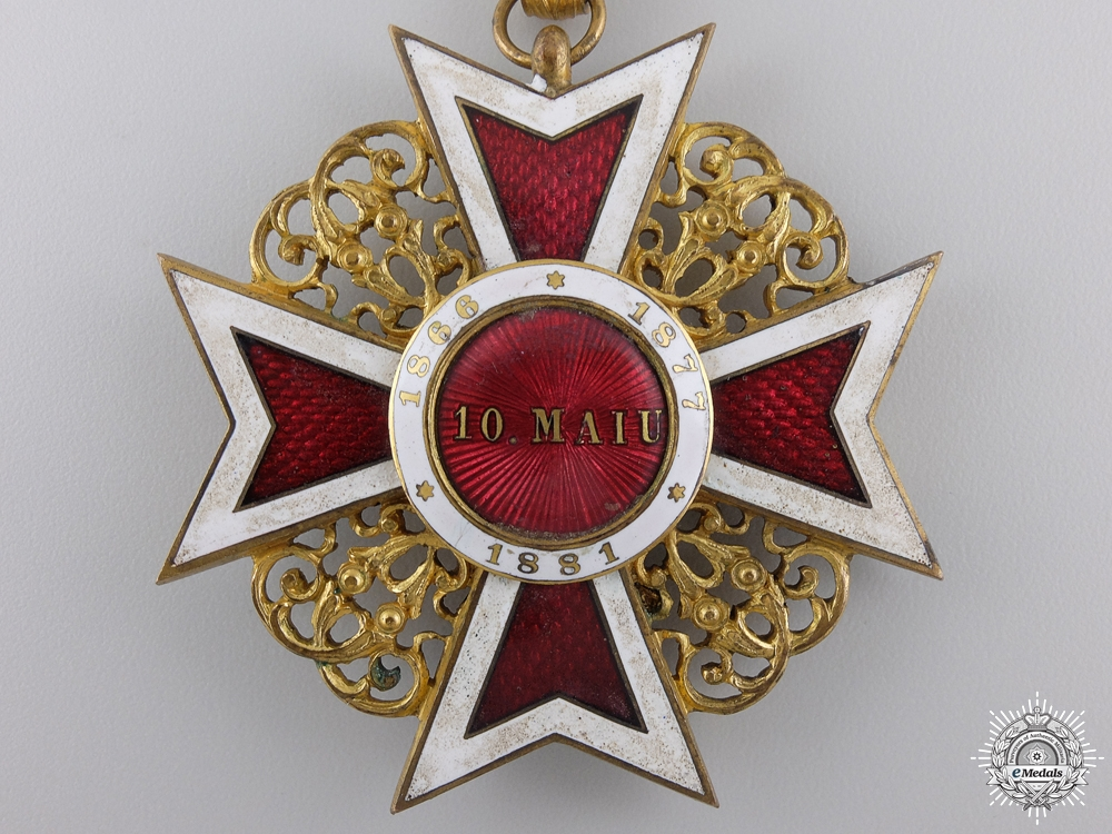 A First War Romanian Order of the Crown; Commanders Cross