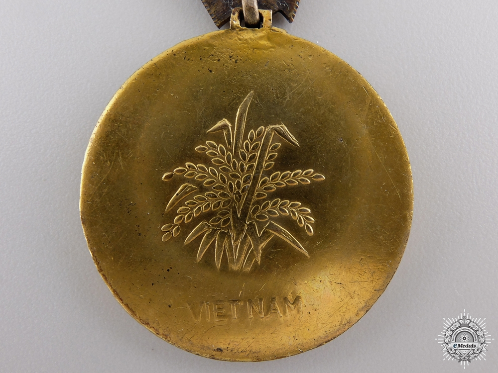 A Vietnamese Agricultural Service Medal; 1st Class