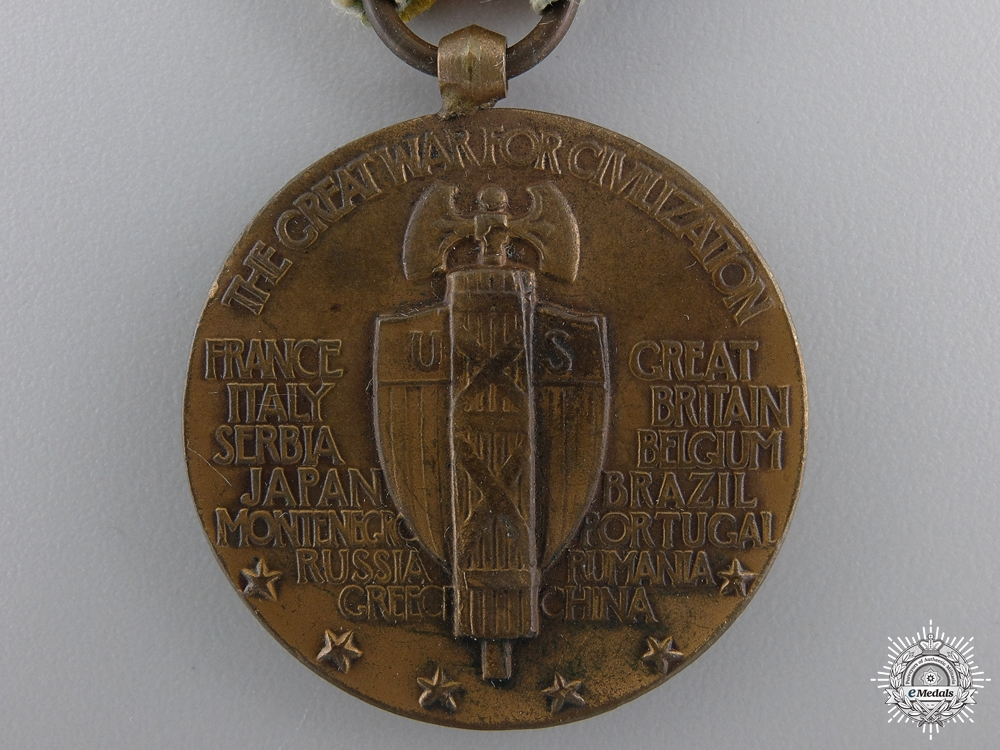 A First War American Victory Medal; Submarine
