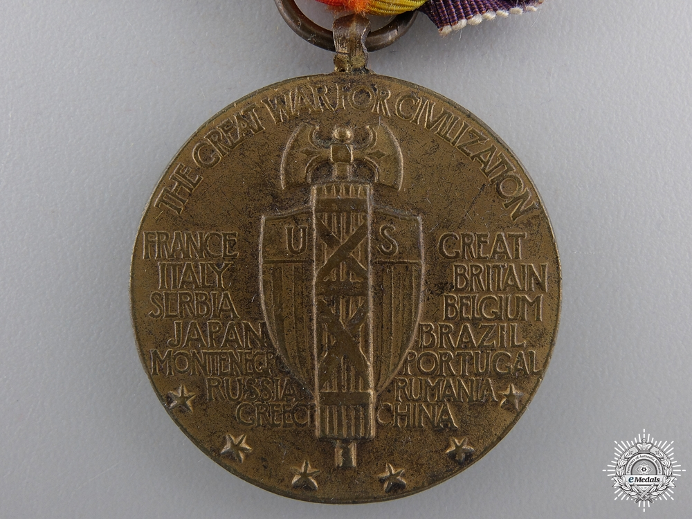 A First War American  Victory Medal; Russia