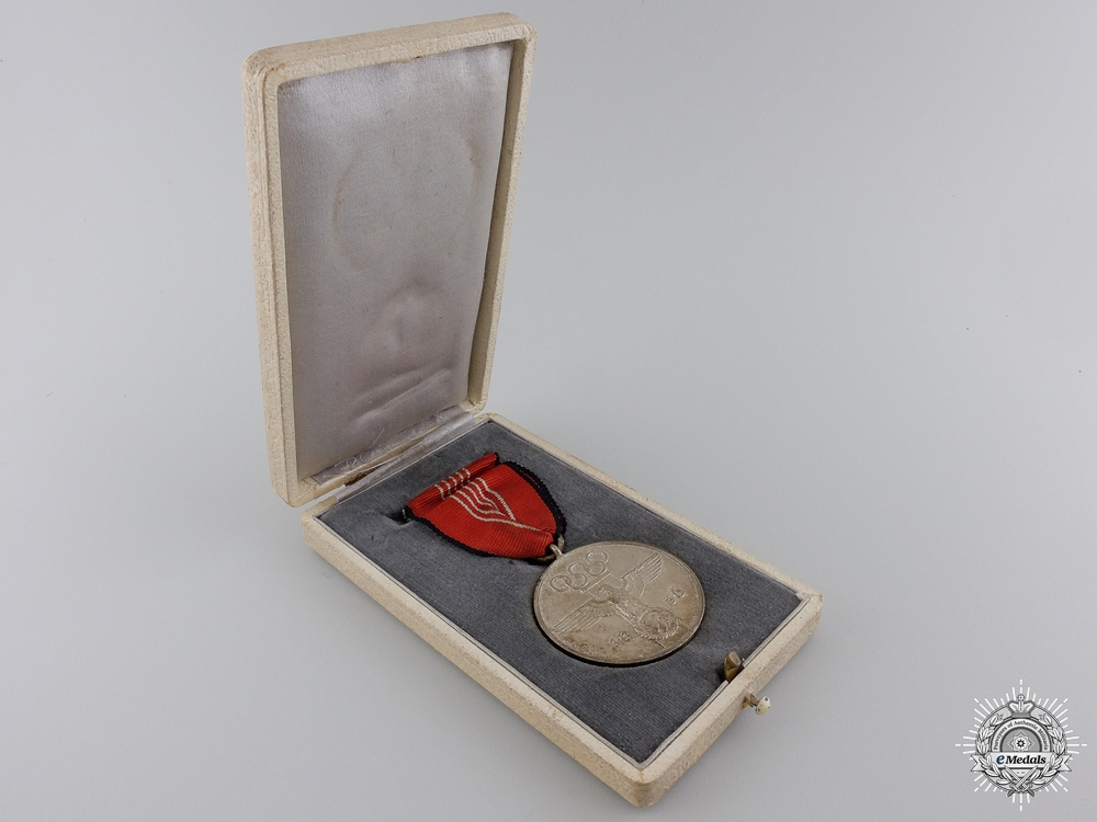 An 1936 Berlin Summer Olympic Games Medal with Case