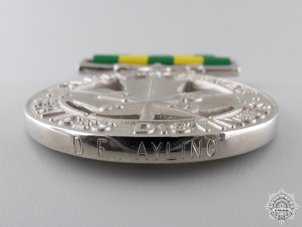 A Canadian Corrections Exemplary Service Medal to D.F.Ayling