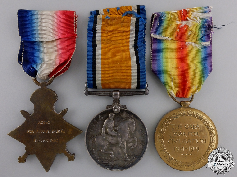 A Memorial Group to the Davenport Brothers; KIA at Vimy