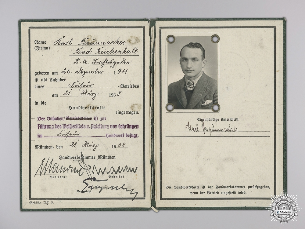 A Wehrpass Document Group with Armband