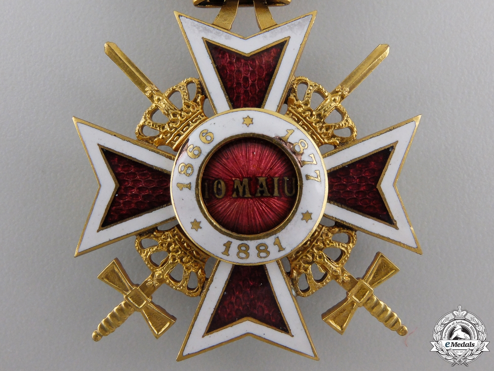 An Order of the Crown of Romania;  Military Division Knight