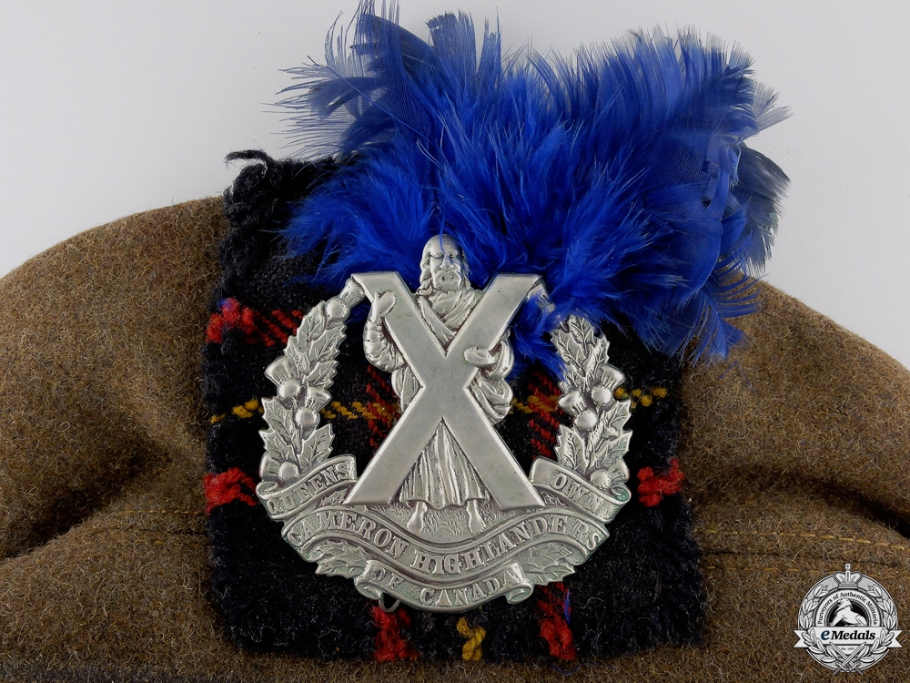 A Second War Queen's Own Cameron Highlanders of Canada Beret  Consignment #16