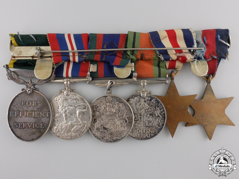 A Second War  Medal Bar to the Royal Canadian Signal Corps