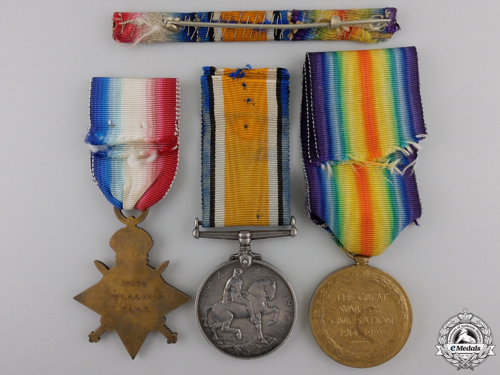 A First War Medal Trio to the Canadian Army Medical Corps