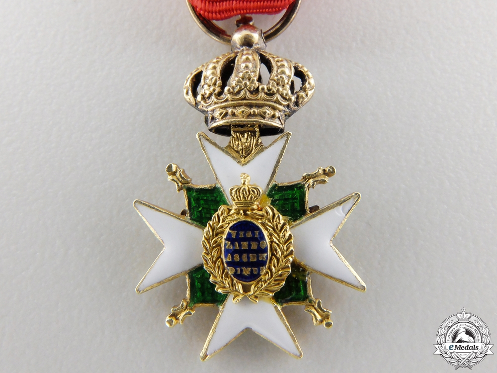 A Miniature  Order of the White Falcon in Gold