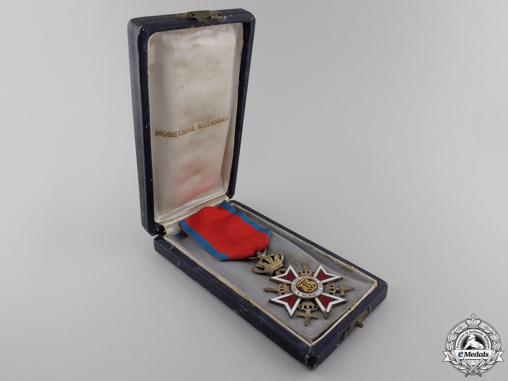 An Order of the Crown of Romania; Knight of the Military Division with Swords