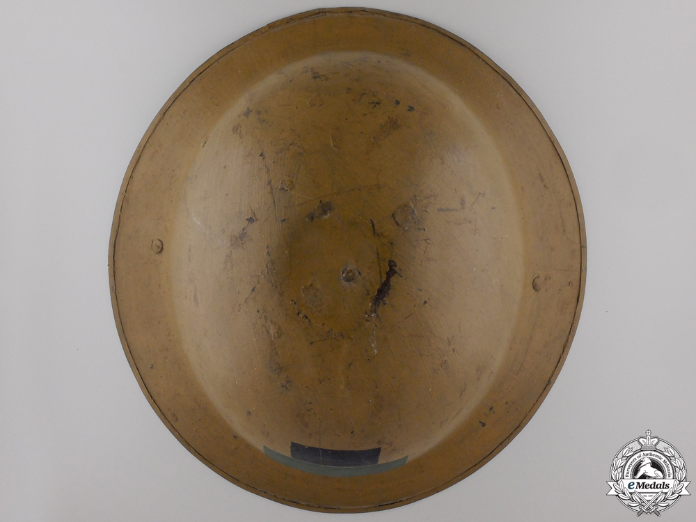 A First War Mark II 85th Infantry Battalion; 4th Can Div Helmet