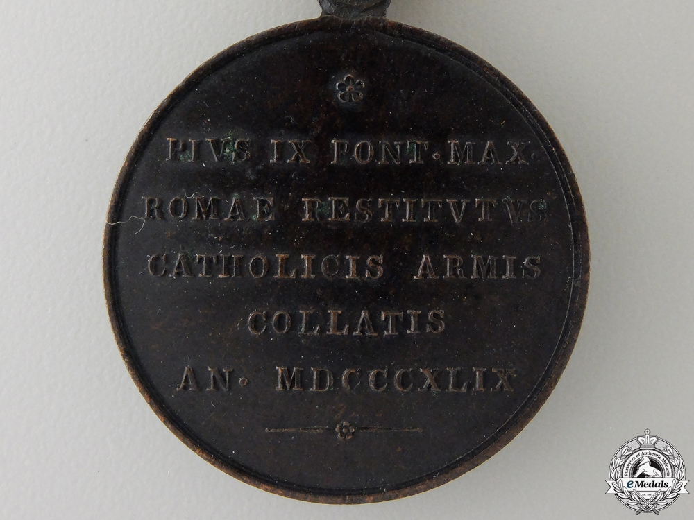 A 1849 Defense of Rome Medal