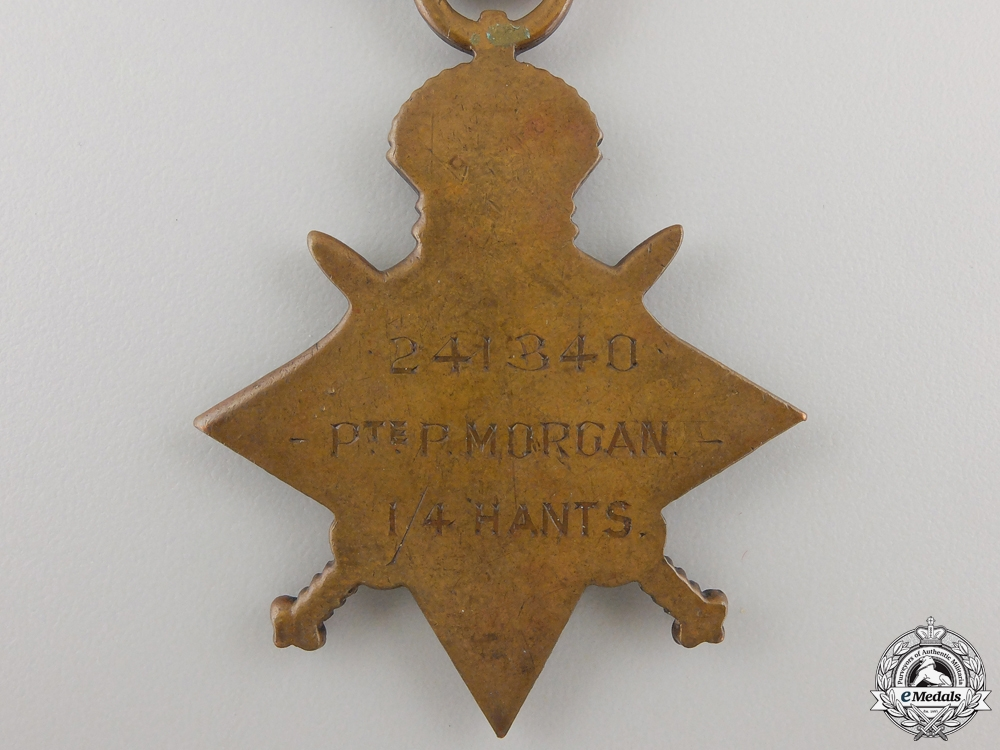 A First War 1914-15 Star to the Hampshire Regiment