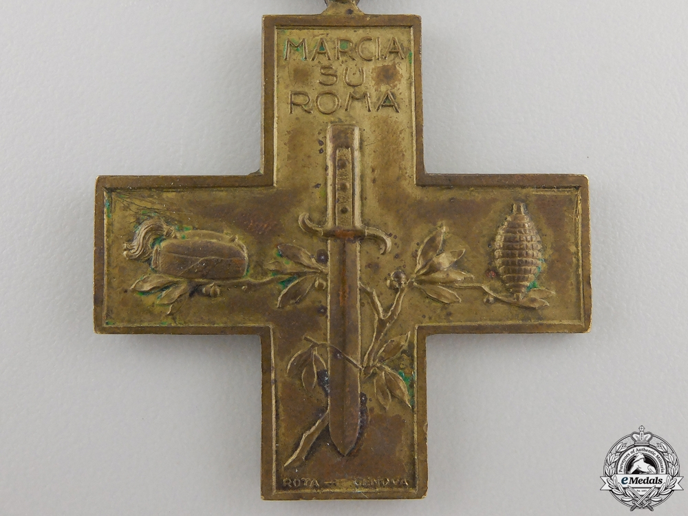 An 1920-1922 Italian Cross for the March on Rome