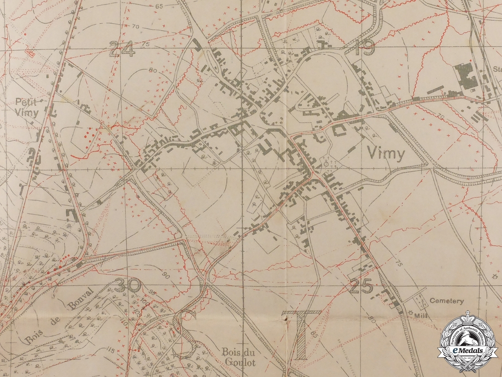 A First War Vimy Trench Map 1916