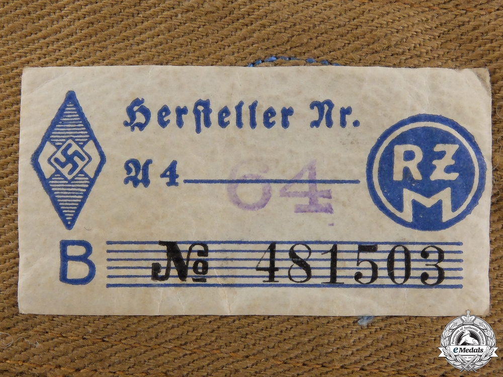 A Pair of HJ Flak Helper Shoulder Straps; RZM Tagged