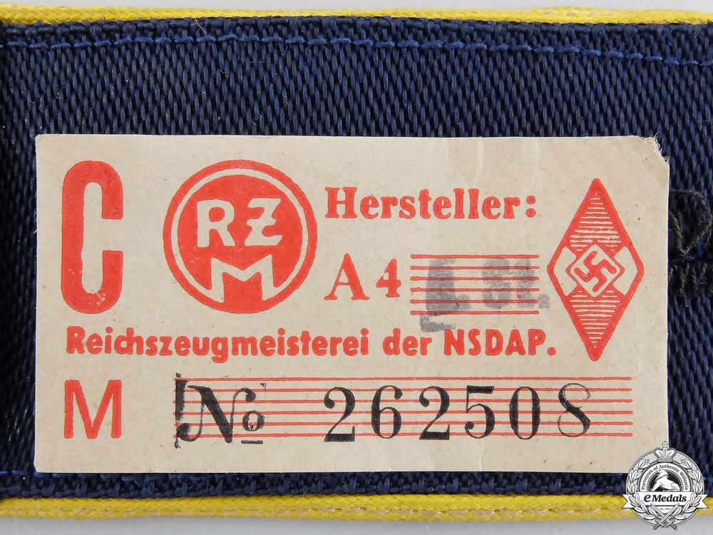 A Pair of HJ Marine Unit Shoulder Straps; RZM Tagged