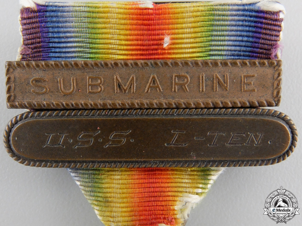 An American First War Victory Medal to Submarine U.S.S. L-Ten
