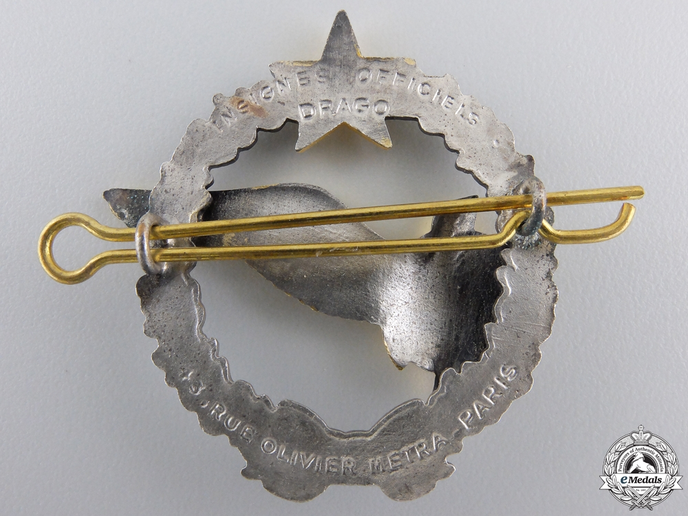 A French Air Force Student Navigator & Radio Operator Badge; Vietnam Period