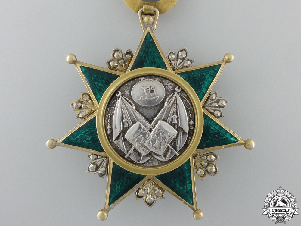 A Turkish Order of Order of Osmania; Breast Badge