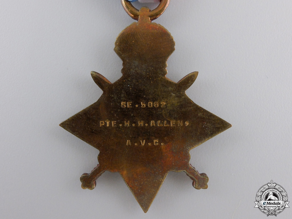 A First War Medal Group to the Army Veterinary Corps
