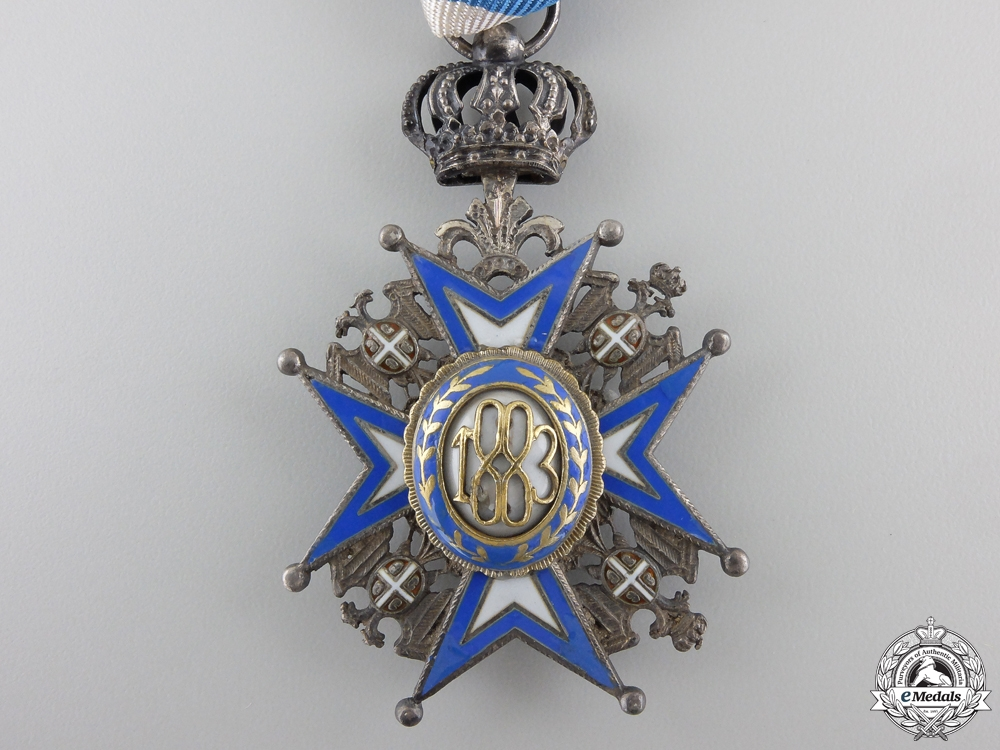 A Serbian Order of St. Sava; 5th Class Knight