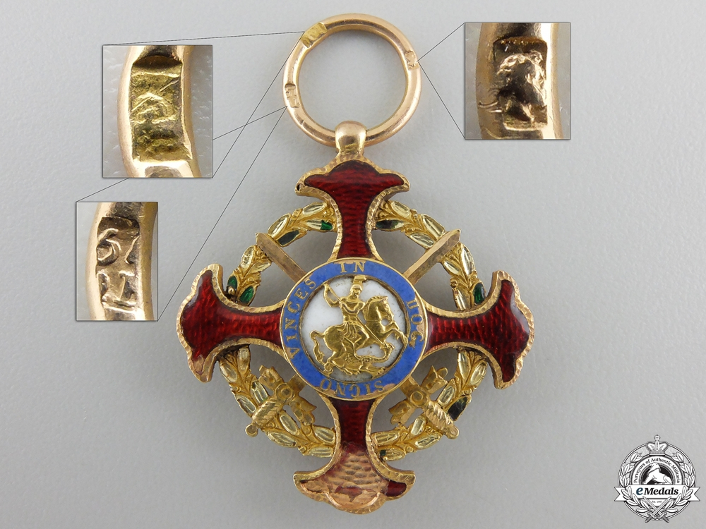 An Order of Saint George of the Reunion in Gold c.1825