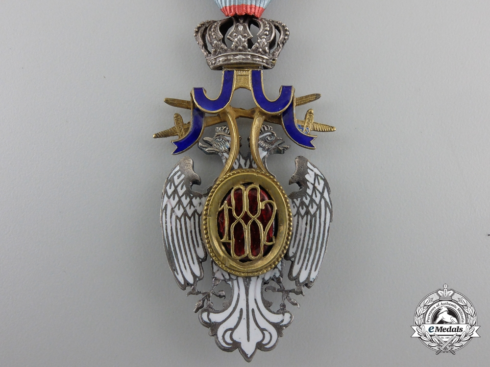 A Serbian Order of the White Eagle with Swords; Knight