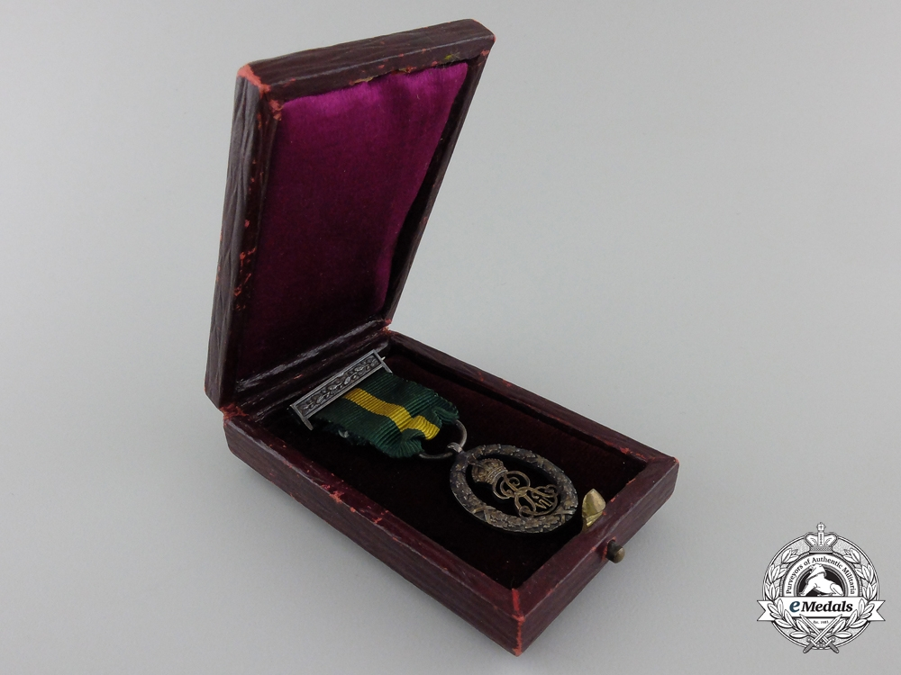 A Fine Edward VII Miniature Territorial Decoration with Case