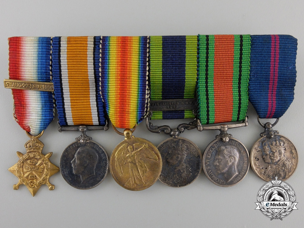 A First War and India Service Miniature Group with Case