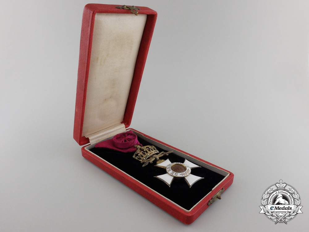 A Bulgarian Order of St. Alexander; Officer with Case